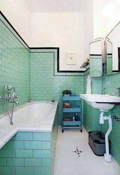 42 Gorgeous Black And White Subway Tiles Bathroom Design Art Deco Bathroom, Bathroom Tile Designs, Bathroom Interior, Bathroom Ideas, Bathroom Wall, Bathroom Images, Bathroom Plants, Remodel Bathroom, Budget Bathroom