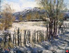 Barn Fence, Chimayo by Margi Lucena Pastel ~ 16 x 20