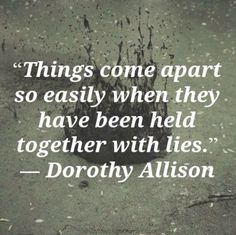 No true relationship can be billed on distrust.