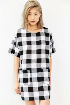 Cooperative Check Me Out Shift Dress - Urban Outfitters