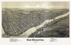 New Brighton, Pennsylvania. Drawn by T. M. Fowler. 1901 Year: 1901 City: New Brighton County: Beaver State: Pennsylvania Country: United States