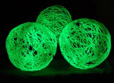 How to Make Glow in the Dark Spider Balls for Halloween