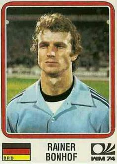 Rainer Bonhof of West Germany. 1974 World Cup Finals card.