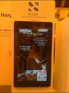Harp Visual interactive digital signage application featuring PCT #touchscreen #sign #IAEE_HQ