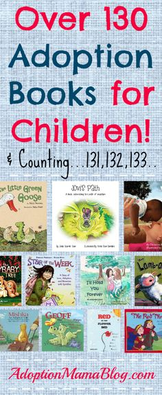 Adoption books for children. A list of adoption books for children. These adoption books for children are sorted into many different categories. I promise you WILL find one you like! Adoption Books, Adoption Quotes, Open Adoption, Foster Care Adoption, Adoption Stories, Foster To Adopt, Adopting From Foster Care, Adoption Shower, Adoption Party