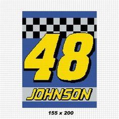 COZYCONCEPTS 48 NASCAR JIMMIE JOHNSON CROCHET PATTERN GRAPH AFGHAN   CozyConcepts - Patterns on ArtFire