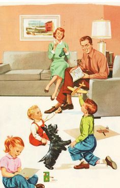 [Family System, Family Lives] This shows a nuclear family which is a white middle class family.