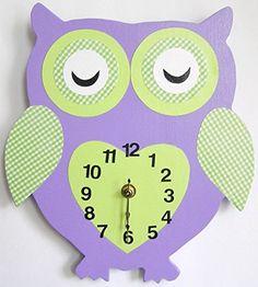Nursery Wall Clock, Nursery Owl Clock, Hanging Owl Clock,... https://smile.amazon.com/dp/B019LWBG00/ref=cm_sw_r_pi_dp_653LxbFR8SSN3