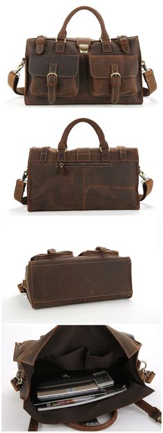 f65fb012a4 Leather Travel Bag Men Duffle Bag Large Capacity Gym Bag With Shoulder  Strap Leather Duffle Bag