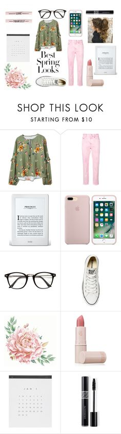 """""""Untitled #306"""" by mford21 ❤ liked on Polyvore featuring MANGO, H&M, Converse, Lipstick Queen and Christian Dior"""