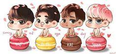 Tao, Kyungsoo, Kai and Sehun #tao #d.o #kyungsoo #kai #sehun  Credits to the owner
