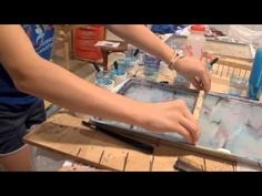 Ebru Turkish water marbling art How to marble paper: step by step https://www.youtube.com/watch?v=cB_rR7MUj60