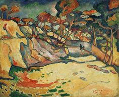 L'Estaque, par Georges Braque (1906) Contraste entre le ciel sombre, et le sol clair, tempète