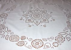 Antique Polish Tablecloth/Hand Polish Cracow Embroidery by MAChic