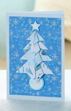 Origami Christmas card - PaperCrafter