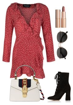 """Untitled #1866"" by kellawear on Polyvore featuring Gianvito Rossi, Gucci, Charlotte Tilbury and H&M"