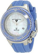 Swiss Legend Women's 11844-BLWSA Neptune White Mother-Of-Pearl Dial Watch.  This watch is prettier, the periwinkle brighter, in real life...dkl