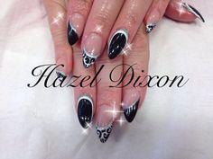 Salon design nails using go colour by nsi xx Salon Nails, Gel Nails, Acrylic Nails, Diamante Nails, Matt Nails, Designer Nails, Healthy Nails, Beautiful Nail Designs, Salon Design