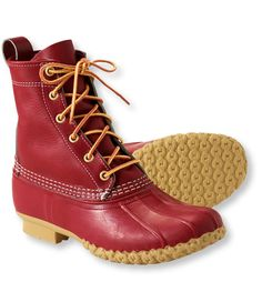 """Women's L.L.Bean Boots, 8"""" Special-Edition - Red duck boots - I WANT ASAP!!!!"""