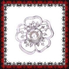 Martisor Brosa Floare Anemona Argintiu Mat Brooch, Jewelry, See Through, Bead, Jewlery, Jewerly, Brooches, Schmuck, Jewels