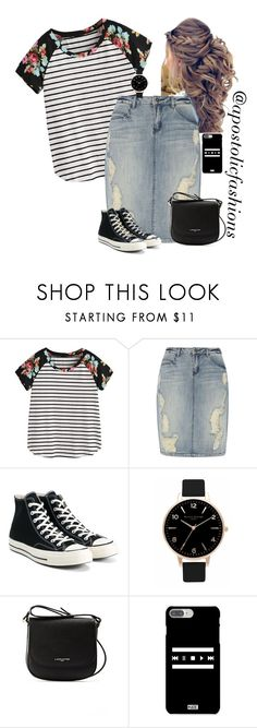 """Apostolic Fashions #1811"" by apostolicfashions ❤ liked on Polyvore featuring Dorothy Perkins, Converse, Olivia Burton and Lancaster"