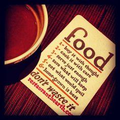Food philosophy at Hearth Restaurant in New York, NY (photo by @Judi Pena)
