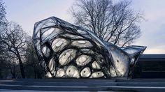 University of Stuttgart unveils Carbon fiber pavillon based on beetle shells Architecture Paramétrique, Contemporary Architecture, Autocad, Flora Und Fauna, Temporary Structures, Digital Fabrication, Parametric Design, Design Strategy, Mockup