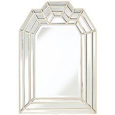 "Hillsboro Champagne 27""x39 1/4"" Crown Top Wall Mirror"