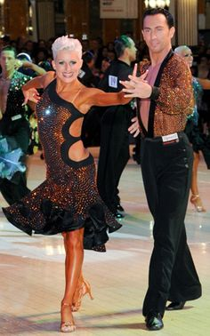 latin dance dress salsa bachata black crystals costume cutout assymetrical