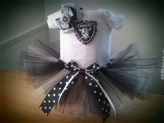Oakland Raiders inspired tutu outfit by killerkrafts on Etsy, $32.00