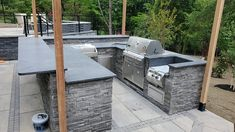 At Aqua Kitchen and Bath Design Center, we love renovation projects – from small and simple, to large and challenging – we welcome them all and give each project our best.  Here's a look at our favorite recent outdoor kitchen remodel in Chatham, NJ. More details coming soon on our website! ✨  #outdoorkitchen #outdoorkitchendesign #outdoorkitchens #outdoorkitchendesignstore #granite #steelgray #steelgraygranite #granitecountertops #outdoorkitchenideas⠀⠀ #outdoorkitchengoals