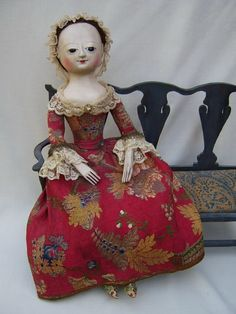 Queen Anne dolls. on Pinterest | 18th Century, Antique Dolls and ...