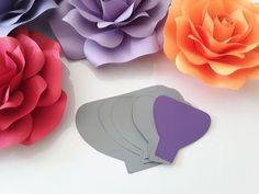 Diy Rose Tutorial (Large Size Paper Rose) - YouTube