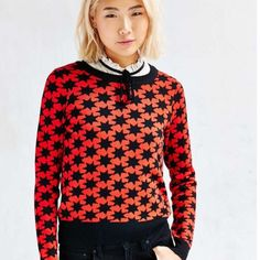 ❗️LAST CHANCE Urban Outfitters Red Star Sweater ❗️LAST CHANCE Urban Outfitters Alice Ritter's label Alice + OU Red & Black Celestial star sweater. NWT retails $69. Size medium. Im having a huge Moving Closet Cleanout Sale! Im selling to the first reasonable offer i receive so feel free to make an offer & it's yours! Snatch it up before someone else does! Extra 30% off on bundles! https://www.spurstartup.com/campaign/29/shopher Urban Outfitters Sweaters