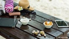 Stock Video of A frame blend stop motion on the beach with a table in the sea sand, snacks, drinks and cocktails, have a good time under palm trees on a tropical island in Seychelles, close shot. at Adobe Stock Cocktails, Drinks, Stop Motion, Seychelles, Stock Video, Palm Trees, Stock Footage, A Table, Adobe