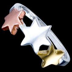 Sterling silver ring, stars