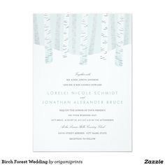 Birch Forest Wedding Card