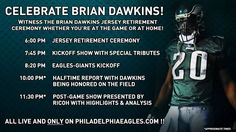 Don't miss a moment as we celebrate Brian Dawkins on Sunday! Join the conversation on Twitter by using #Dawkins20