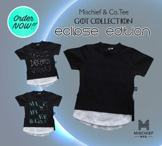 Fashion 365 days a year 🙌 Introducing our ultra soft Luxe Tee the Eclipse edition 👊 featuring double side zippers and curved white hems for that extra awesome look! ✌️️ Get it plain or on any of our two new designs; Constellations or Collectors edition at store now!  #cooltees #fashion #kid #tee