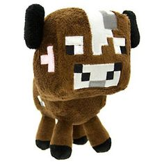 This is the Minecraft Plush Baby Cow figure. It's adorable, and as mentioned earlier, is a high quality plush and very soft. In Minecraft you had better use that wheat to get these cows to mate! When
