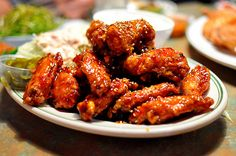 OB Bear, Koreatown. You gotta get the spicy chicken wings, twice-fried and lacquered in a sweet chili sauce.