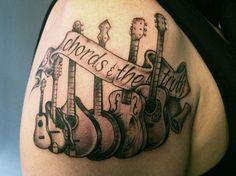 Band of Guitars Tattoo