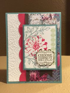 Choose Happiness Handmade Card Stampin' Up For any by FMNPaperie