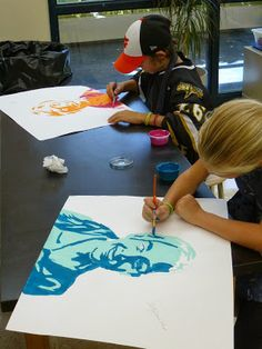 Mrs. Kamp's Canvas: Adventures in Middle School Art!: Warm & Cool Portraits with Tessellations