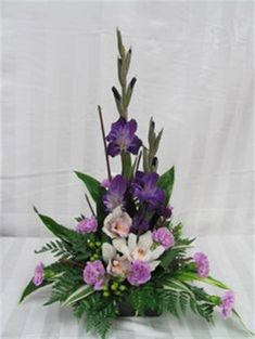 Tropical Flower Arrangements, Creative Flower Arrangements, Funeral Flower Arrangements, Beautiful Flower Arrangements, Beautiful Flowers, Orchid Flower Arrangements, Altar Flowers, Church Flowers, Funeral Flowers