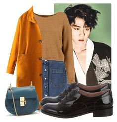 """""""EXO #4 BAEKHYUN"""" by aria-summer-lopez ❤ liked on Polyvore featuring Lacoste L!VE, RED Valentino and Chloé"""