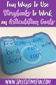 Fun Ways To Use Storybooks To Work on Articulation Goals - perfect for school-based speech therapy and those having mixed speech and language groups. A great way to incorporate literacy-based therapy and ensure carryover! #speechtherapy #articulation #mixedspeechgroups