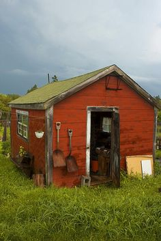 little red garden shed