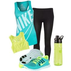 Cute workout gear- love the colors