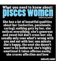 Pisces Women; Insights and Understanding Them